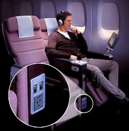 澳航将推出机上WiFi及笔记本电脑插座