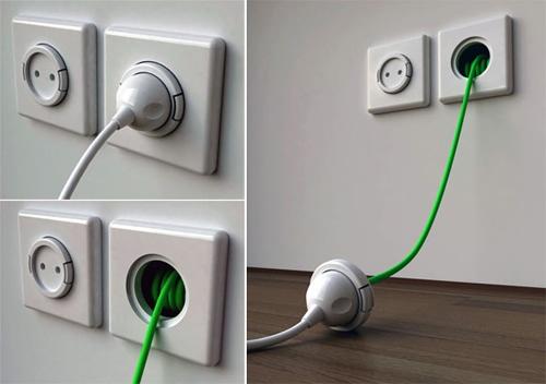 内置延长线的开关插座 无限创意