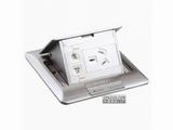 品牌:施耐德奇胜 Clipsal&#10名称:不锈钢五孔电源地面插座&#10型号:E224C10/2(ABE)