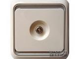 品牌:西蒙 Simtone&#10名称:防雷一位串接式电视插座&#10型号:60473-50
