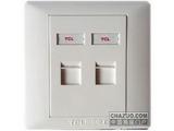 品牌:TCL-罗格朗 TCLLegrand&#10名称:电脑插座+电话插座&#10型号:LT01/C01