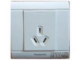 品牌:松下 Panasonic&#10名称:单相一位三极插座&#10型号:WMS102