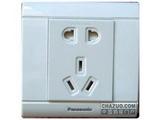品牌:松下 Panasonic&#10名称:单相二、三极插座&#10型号:WMS122