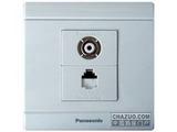 品牌:松下 Panasonic&#10名称:二位二芯电话普通电视混合插座&#10型号:WMS461