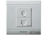 品牌:松下 Panasonic&#10名称:二位二芯电话,八芯通信混合插座(超5类)&#10型号:WMS425