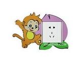 品牌:奥盛 Aosens&#10名称:小猴子开关贴&#10型号:KT2019