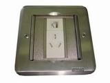 品牌:飞利富 Feilifu&#10名称:不锈钢隐藏式地面插座&#10型号:HTD-11P