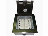 品牌:瑞博 Ruibo&#10名称:不锈钢开启式四位电源地面插座&#10型号:RDC-146B