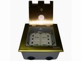 品牌:瑞博 Ruibo&#10名称:开启式四位电源地面插座&#10型号:RDC-146