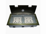 品牌:瑞博 Ruibo&#10名称:不锈钢开启式八位电源地面插座&#10型号:RDC-300