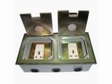 品牌:瑞博 Ruibo&#10名称:不锈钢双开启式双五孔电源地面插座&#10型号:RDC-240B