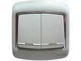 品牌:梅兰日兰 Meilan&#10名称:白色二位双控大跷扳开关&#10型号:L220/2W.AA