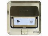 品牌:西蒙 Simtone&#10名称:铜面两位电话地面插座&#10型号:TD120-F6