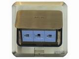 品牌:西蒙 Simtone&#10名称:铜面三位电脑地面插座&#10型号:TD120-F20