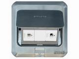 品牌:西蒙 Simtone&#10名称:不锈钢面两位电话地面插座&#10型号:TD120-F6H