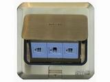 品牌:西蒙 Simtone&#10名称:铜面两位电脑+电话地面插座&#10型号:TD120-F26