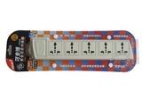 品牌:可来博 Clamber&#10名称:欧式经典插座一开关六位 3米&#10型号:STY-E15.3m