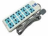 品牌:公象 MaleElephant&#10名称:总控双排10联3米万用插座&#10型号:GX-218
