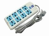 品牌:公象 MaleElephant&#10名称:总控双排8联3米万用插座&#10型号:GX-217