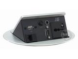 品牌:奥盛 Aosens&#10名称:弹起式椭圆形桌面插座&#10型号:JS-221C(银色)