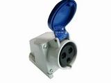 品牌:怡达 YEEDA&#10名称:IP44明装插座3芯(32A220V)&#10型号:1231106