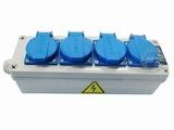 品牌:威浦 Weipu&#10名称:IP44四位组合插座(16A220V)&#10型号:08254