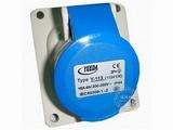 品牌:怡达 YEEDA&#10名称:IP44暗装斜插座3芯(16A220V)&#10型号:1134106