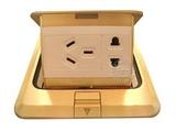 品牌:JOHO JOHO&#10名称:铜色弹起式五孔地面插座&#10型号:DCT-628/GB