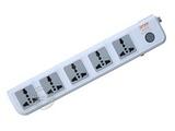 品牌:可来博 Clamber&#10名称:总控5联3米万用插座&#10型号:STY-1-D15-1S