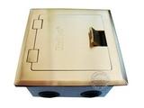品牌:瑞博 Ruibo&#10名称:一位电脑铜面开启式地面插座&#10型号:RDC-120-2