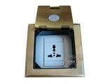 品牌:瑞博 Ruibo&#10名称:一位三孔铜面开启式地面插座&#10型号:RDC-120-6
