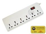 品牌:二院706 706&#10名称:红黑隔离电源插座一开六位防电磁泄漏&#10型号:TDY-6