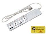 品牌:国产 Guochan&#10名称:红黑隔离电源插座 分控四位 防电磁泄漏&#10型号:QY-GLII