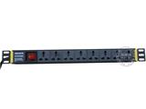 品牌:奥盛 Aosens&#10名称:Basic系列总控万用插孔 8位PDU机柜插座&#10型号:AS-LG-M8K