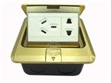 品牌:基讯 EXCEL&#10名称:弹起式五孔强电铜地插&#10型号:GC-DT/TG/F3