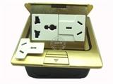 品牌:基讯 EXCEL&#10名称:弹起式铜强电六孔阻尼地插&#10型号:GC-DT/TQ/F3Z