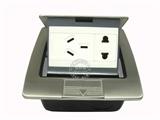 品牌:基讯 EXCEL&#10名称:弹起式铜强电五孔阻尼不锈钢地插&#10型号:GC-DG/TQ/BH3Z