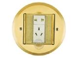 品牌:飞利富 Feilifu&#10名称:一位二极双用插座、一位二级带接地地面插座&#10型号:HTD-12