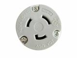 品牌:进口 Imports&#10名称:20A, 125VAC Grounding Locking Connector L5-20R&#10型号:WJ-9320B