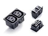 品牌:奥盛 Aosens&#10名称:IEC-C13服务器专用2联插座&#10型号:AS-JHD-102