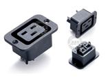 品牌:奥盛 Aosens&#10名称:固定式IEC-C19插座模块&#10型号:AS-SS-3B
