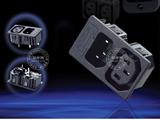 品牌:奥盛 Aosens&#10名称:IEC-C13-C14服务器专用2联组合模块&#10型号:AS-WD-201