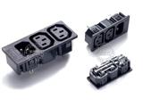 品牌:奥盛 Aosens&#10名称:IEC-C13-C14服务器专用3联组合模块&#10型号:AS-WD-202