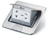品牌:湖南梅兰日兰 meilanrilan&#10名称:不锈钢五孔电源地面插座 &#10型号:LXDC-8T