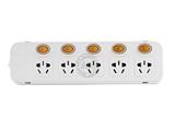 品牌:突破 Top&#10名称:五控五联接线板插座3米&#10型号:TZ-Q0915K5