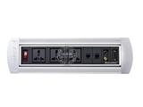 品牌:奥盛 Aosens&#10名称:手动翻转桌面插座 多媒体台面插座&#10型号:AS-ZH-406