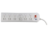 品牌:可来博 Clamber&#10名称:电子过流过压保护六开六位 3米&#10型号:STY-1-66G/2000.3M