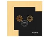 品牌:品上 POSO&#10名称:一位音响插座&#10型号:AF/M6/A