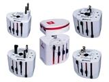 品牌:奥盛 Aosens&#10名称:全球通双USB转换插头 旅行转换器 (USB DC 5V 1000mA)&#10型号:AS-CU-202