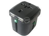品牌:奥盛 Aosens&#10名称:全球通双USB转换插头 旅行转换器  过载  指示灯 5V 1000mA&#10型号:AS-CU-204